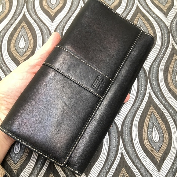 🖤✨Large coach wallet with many compartments